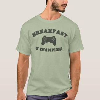 T-shirt Jeux vidéo, petit déjeuner des champions