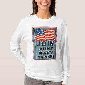 T-shirt Joignez l'armée, marine, marines WPA 1917