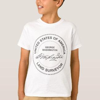 T-shirt Joint d'arpenteur de terre de George Washington