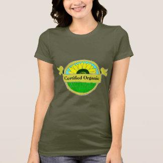 T-shirt Joint organique certifié sur les chemises foncées