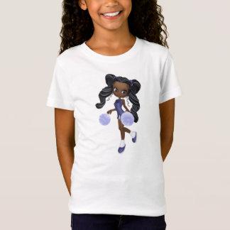T-Shirt Joli bébé de pom-pom girl d'Afro-américain -