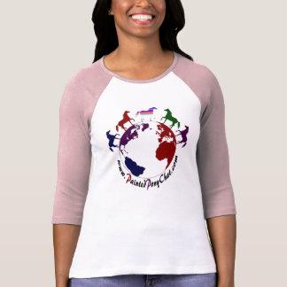 T-shirt Jolie chemise peinte de douille du logo 3/4 de