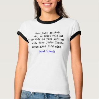 T-shirt Josef Schwejk - si chacun intelligemment wär