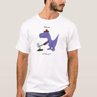 T-shirt Jouer au golf retiré drôle de dinosaure de T-Rex