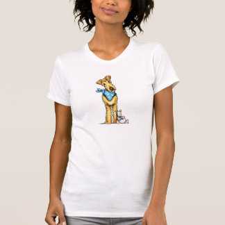 T-shirt Jouet de chiot d'Airedale Terrier