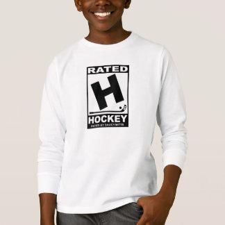 T-shirt Joueur de hockey H évalué pour l'hockey
