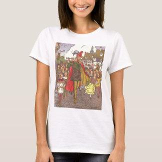 T-shirt Joueur de pipeau pie vintage de conte de fées de
