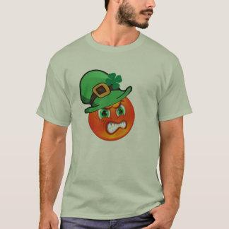 T-shirt Jour de la Saint Patrick vert chanceux d'emoji