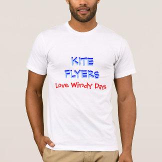 T-shirt Jours venteux d'amour d'INSECTES de CERF-VOLANT