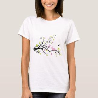 T-shirt Joyeuses Pâques, arbre de ressort avec les lapins