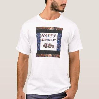 T-shirt joyeux anniversaire happybirthday 40 quarante