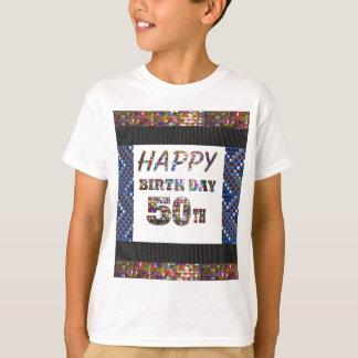 T-shirt joyeux anniversaire happybirthday 50 amusement de