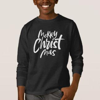 T-shirt Joyeux Noël chrétien marquant avec des lettres le