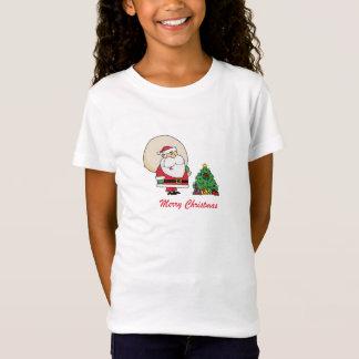T-Shirt Joyeux Noël le père noël et un arbre de Noël