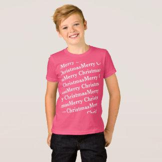 T-shirt Joyeux Noël original dans le motif oblique