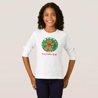 T-shirt Joyeux Noël vous pièce en t de pain d'épice/sucre