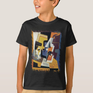 T-shirt Juan Gris - violon et verre - art abstrait