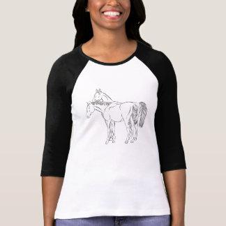 T-shirt Jument et étalon (de Pegasus dos dessus)