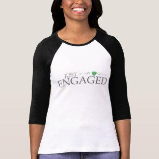 T-shirt Juste engagé (rouleau vert de coeur)