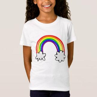 T-shirt juste infantile féminin Arc-en-ciel nuage