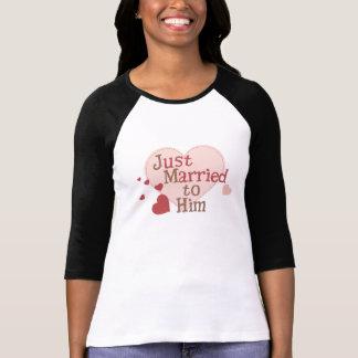 T-shirt Juste marié à lui
