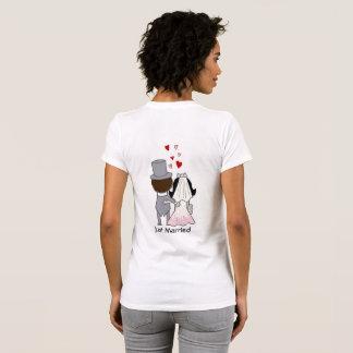 T-shirt Juste marié, pour la jeune mariée