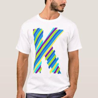 T-shirt K découpé en tranches