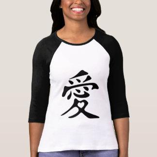 T-shirt Kanji pour l'amour avec le coeur