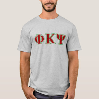 T-shirt Kappa lettres rouges et vertes de livre par pouce