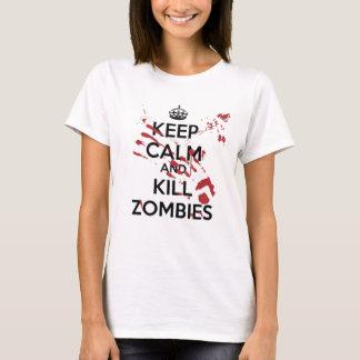 T-shirt Keep Calm and Kill Zombies