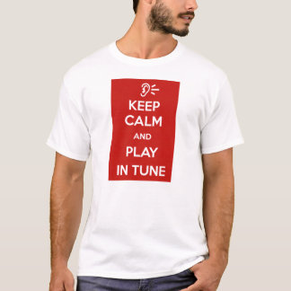 T-shirt Keep Calm and play in tune