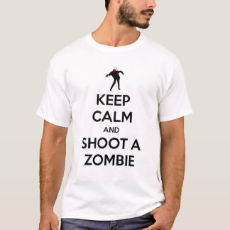T-SHIRT KEEP CALM AND SHOOT ZOMBIE