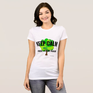T-shirt keep calm free your hair