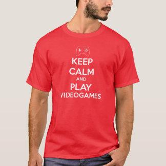 T-shirt Keep Calm Videogames