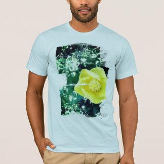 T-shirt Ketmie jaune avec des effets de l'eau