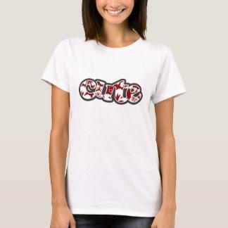 T-shirt Ketmie tropicale rouge foncé