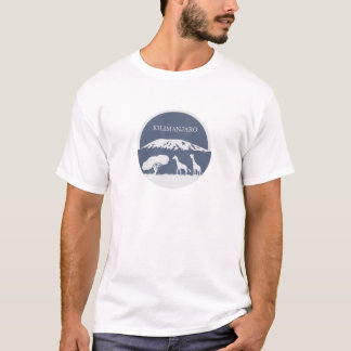 T-shirt Kilimanjaro (bleu)