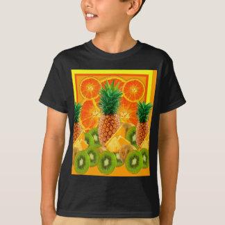 T-shirt KIWI HAWAÏEN de TRANCHES d'ANANAS tropical et