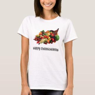 T-shirt Klaxon de corne d'abondance de récolte d'automne