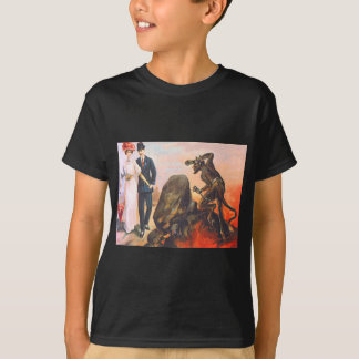 T-shirt Krampus égrappant les couples adultes