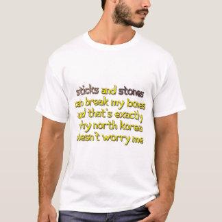 T-shirt Krazy Kim - bâtons et pierres de la Corée du Nord
