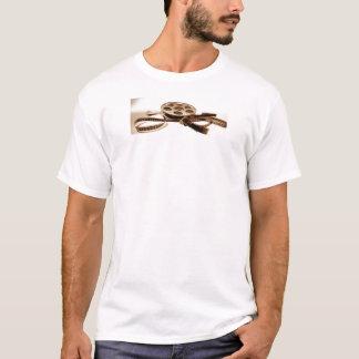 T-shirt La bobine de film dans la sépia modifie la