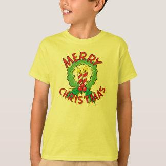T-shirt La bougie faite sur commande de guirlande de