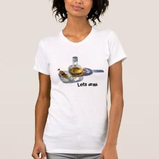 T-shirt La bouteille de cognac, laisse la boisson -