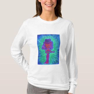 T-shirt La chemise à capuchon des femmes - cannelle et sa