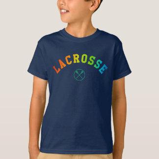 T-shirt La chemise de l'enfant de lacrosse - texte incurvé