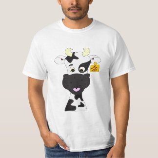 T-shirt La chemise de vache de l'homme drôle de bande