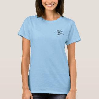 T-shirt La chemise des femmes bleues de boules