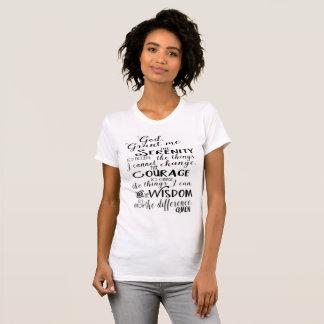 T-shirt La chemise des femmes de foi de prière de sérénité