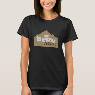 T-shirt La chemise des femmes minces d'iceberg - logo noir